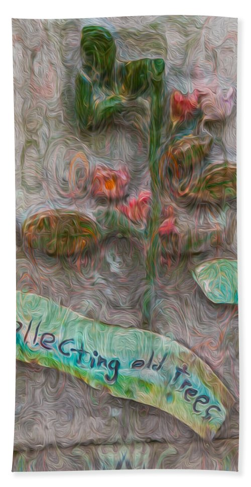 Georgia Okeefe Bath Sheet featuring the painting Collecting Old Trees by Omaste Witkowski