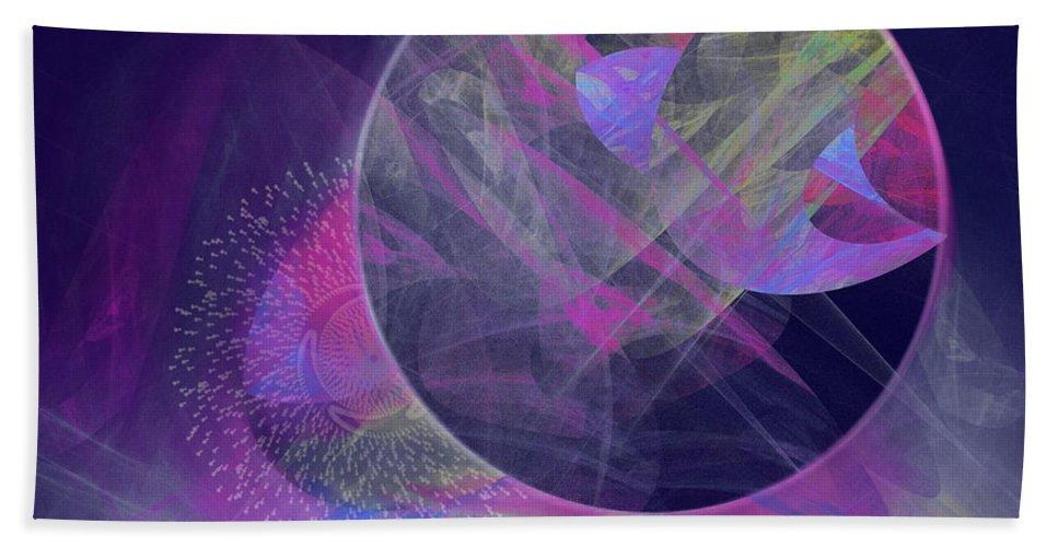 Collide Bath Sheet featuring the digital art Collision by Victoria Harrington