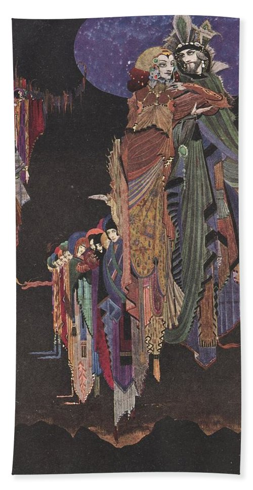 Harry Hand Towel featuring the painting Colloquy Of Monos And Una by Harry Clarke