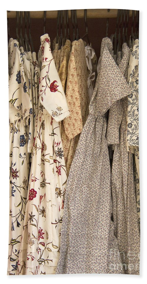 Dress Hand Towel featuring the photograph Colonial Closet by Margie Hurwich