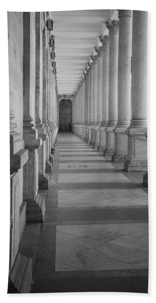 Karlovy Vary Bath Sheet featuring the photograph Colonnade by Shirley Radabaugh