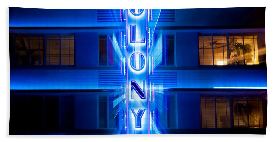Colony Hotel Hand Towel featuring the photograph Colony Hotel 2 by Dave Bowman