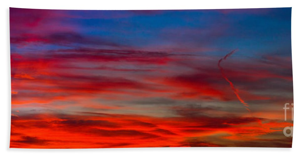 Sunset Hand Towel featuring the photograph Color by Anthony Bonafede