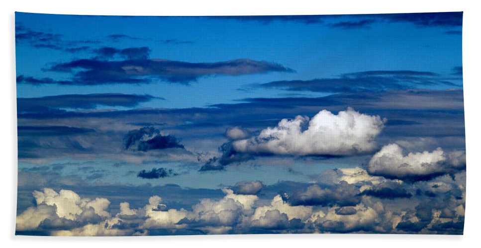 Nature Bath Sheet featuring the photograph Color Burned Clouds by Edward Hawkins II