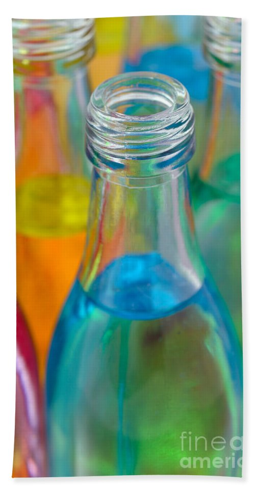 Bottle Hand Towel featuring the photograph Color Drink by Grigorios Moraitis
