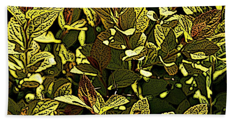 Plant Bath Sheet featuring the photograph Color Engraving 1 by Joe Faherty