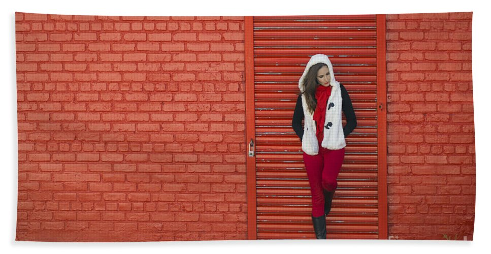 Red Bath Towel featuring the photograph Color Me Red by Evelina Kremsdorf