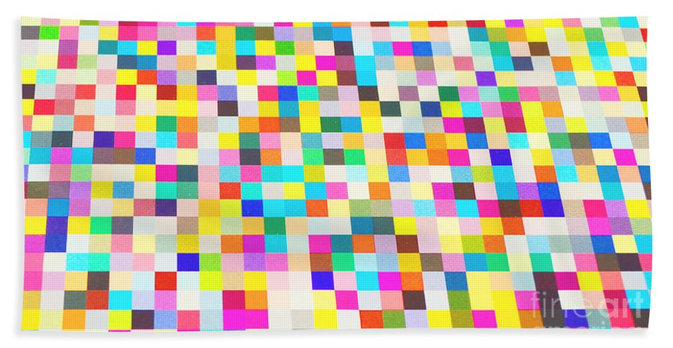 Waves Hand Towel featuring the digital art Color Quilt by Alys Caviness-Gober