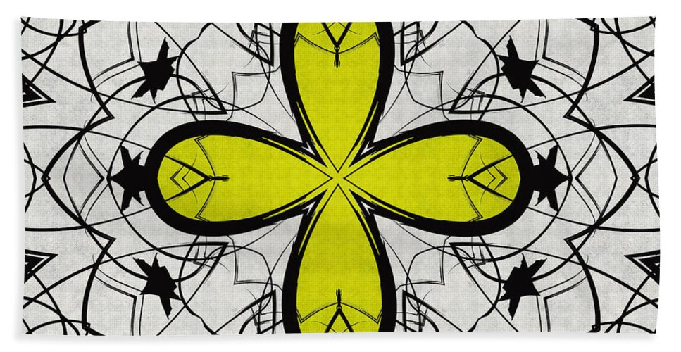 Kaleidoscope Hand Towel featuring the digital art Color Symmetry 2 by Shawna Rowe