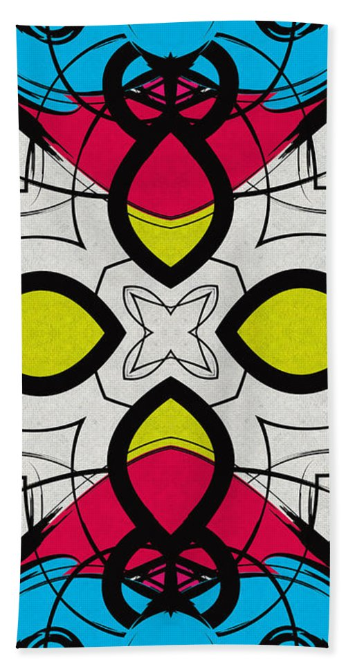 Kaleidoscope Hand Towel featuring the digital art Color Symmetry 3 by Shawna Rowe