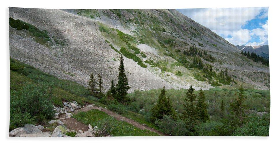 Landscape Photograph Bath Sheet featuring the photograph Colorado Mountain Landscape by Cascade Colors