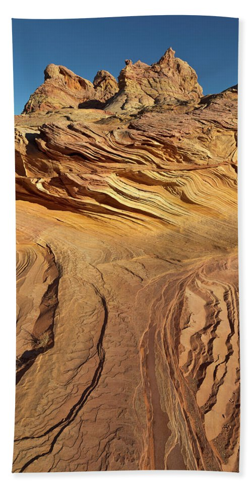 00559239 Bath Towel featuring the photograph Colorado Plateau Sandstone Utah by Yva Momatiuk John Eastcott