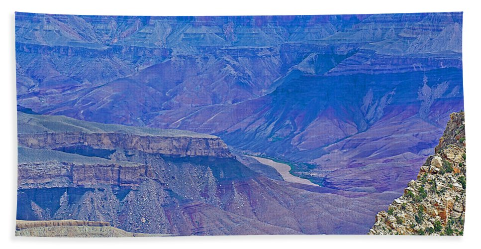 Colorado River Two At Cape Royal On North Rim/grand Canyon National Park Hand Towel featuring the photograph Colorado River Two At Cape Royal On North Rim Of Grand Canyon-arizona by Ruth Hager