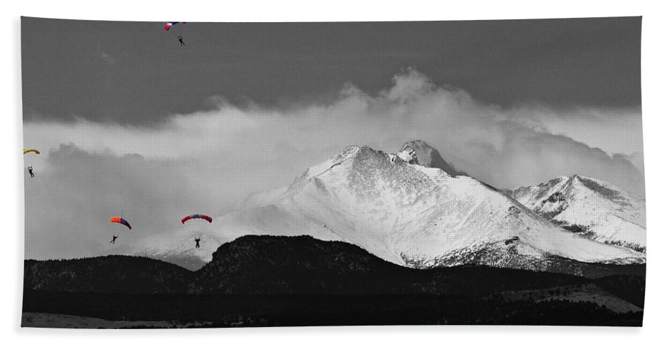 Boulder County Hand Towel featuring the photograph Colorado Rocky Mountain High by James BO Insogna