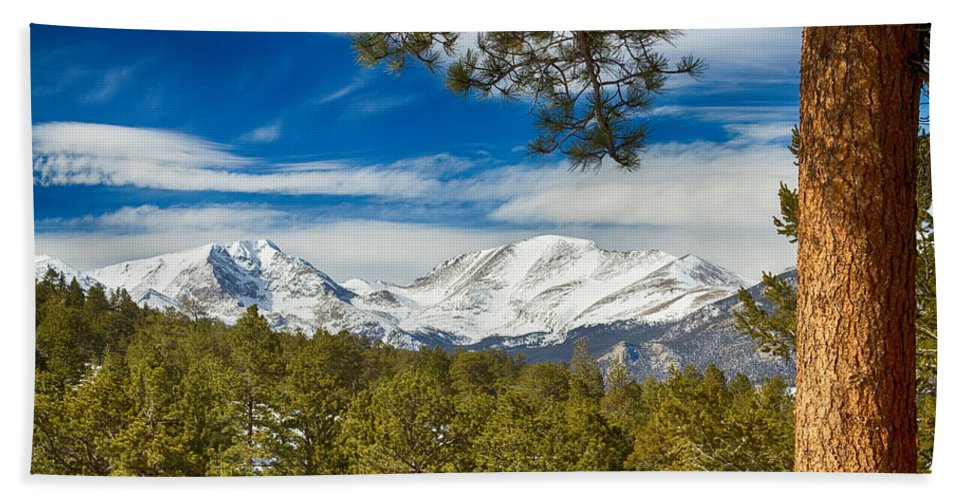 Rockies Hand Towel featuring the photograph Colorado Rocky Mountain View by James BO Insogna