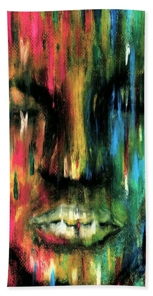 Colorful Bath Towel featuring the photograph ColorBlind by Artist RiA