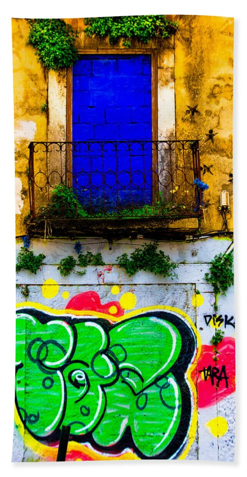 Wall Hand Towel featuring the photograph Colored Wall by Edgar Laureano