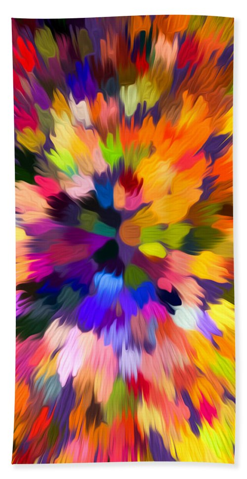 Abstract Hand Towel featuring the painting Colorful Abstract Background by Jeelan Clark