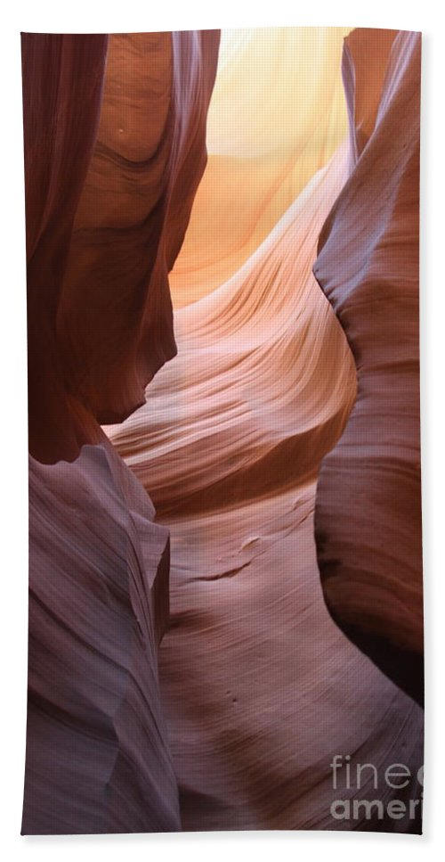 Natures Art Bath Sheet featuring the photograph Colorful Antelope Canyon Waves by Christiane Schulze Art And Photography