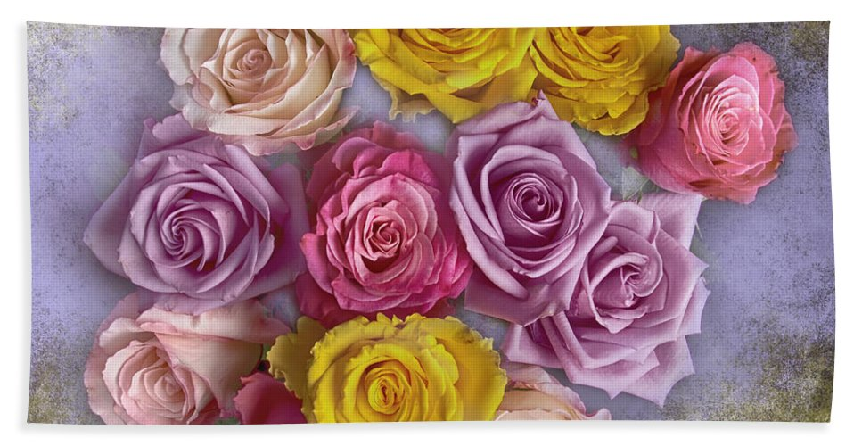 Bouquet Bath Sheet featuring the photograph Colorful Bouquet Of Roses by James BO Insogna