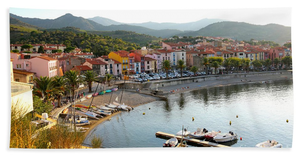 France Bath Sheet featuring the photograph Colorful Collioure by Carol Groenen