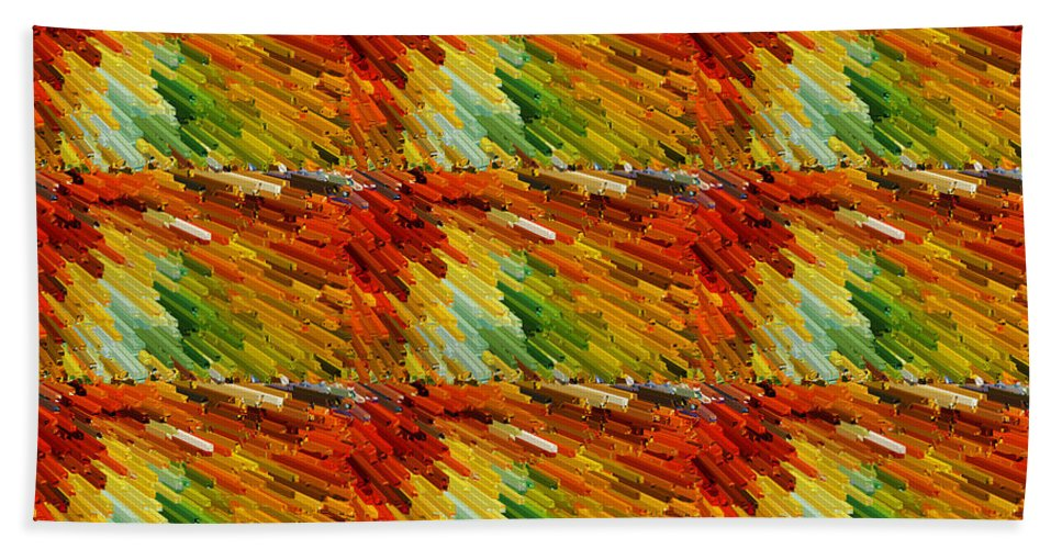 3d Bath Sheet featuring the digital art Colorful Extrude 2 by Jeelan Clark