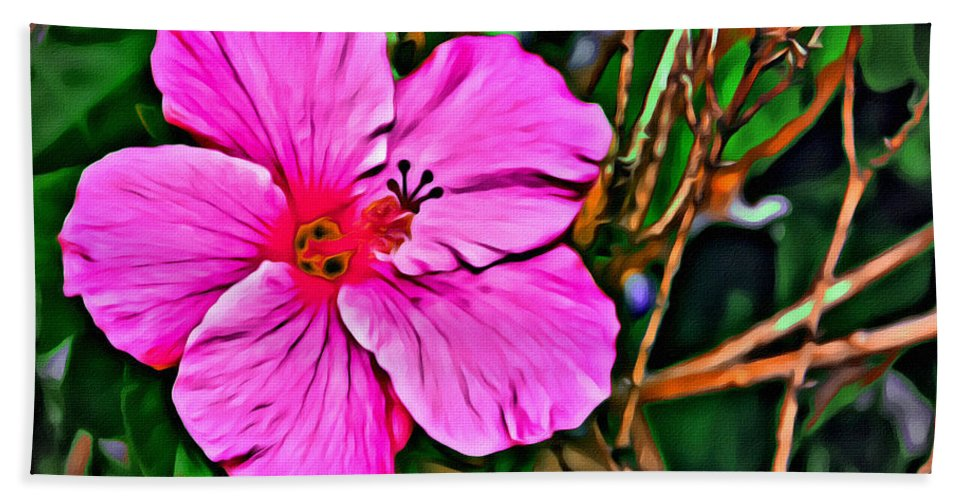 Hibiscus Pink Florida Flower Bath Sheet featuring the photograph Colorful Hibiscus by Alice Gipson