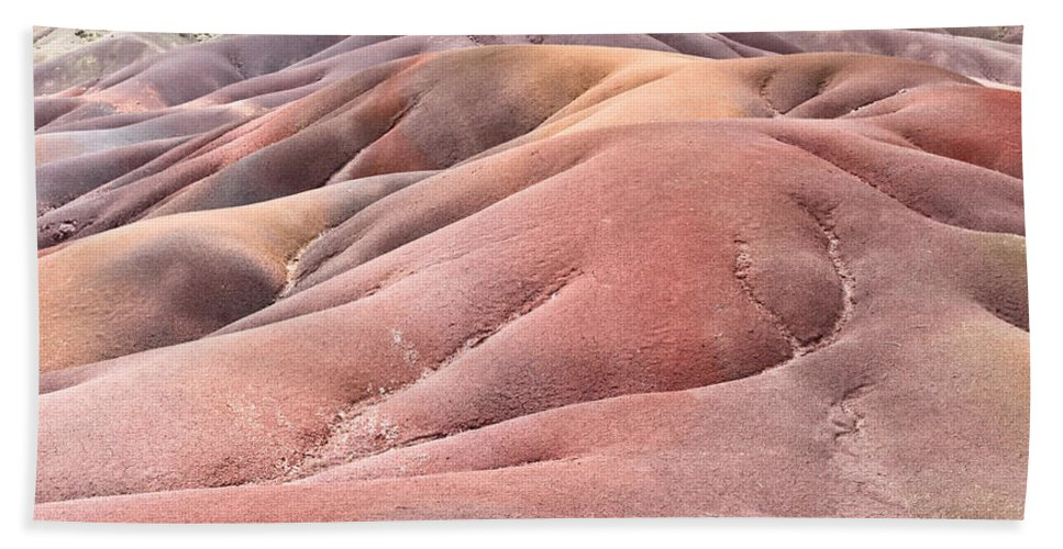 Africa Hand Towel featuring the photograph Colorful Sands by Tom Gowanlock