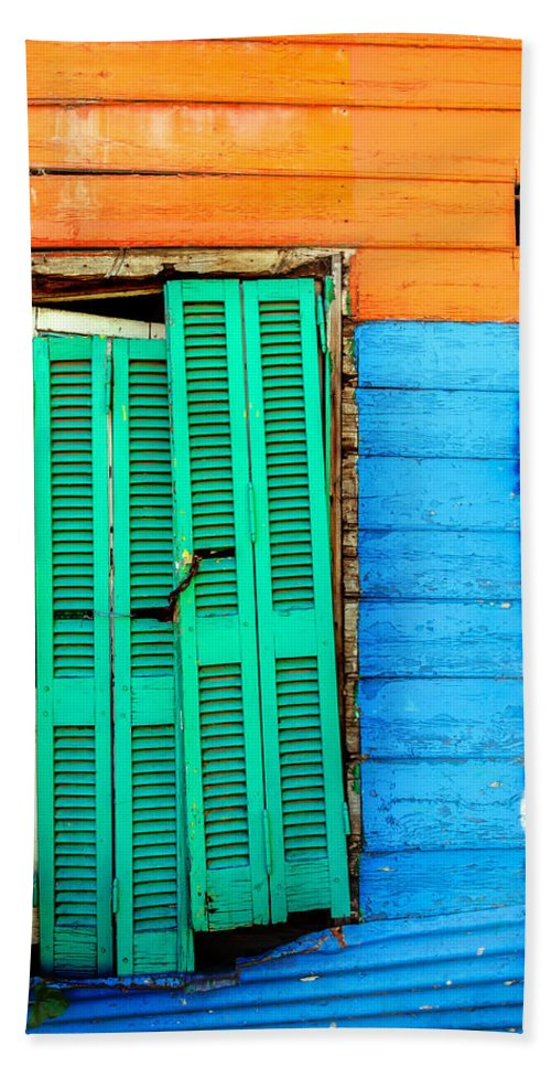 Argentina Hand Towel featuring the photograph Colorful Slum by Jess Kraft