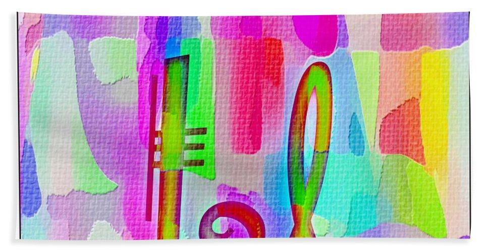 Colorful Texturized Alphabet Ll Bath Sheet featuring the digital art Colorful Texturized Alphabet Ll by Barbara Griffin