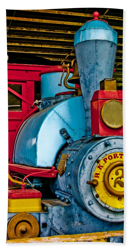 Train Hand Towel featuring the photograph Colorful Train by David and Carol Kelly
