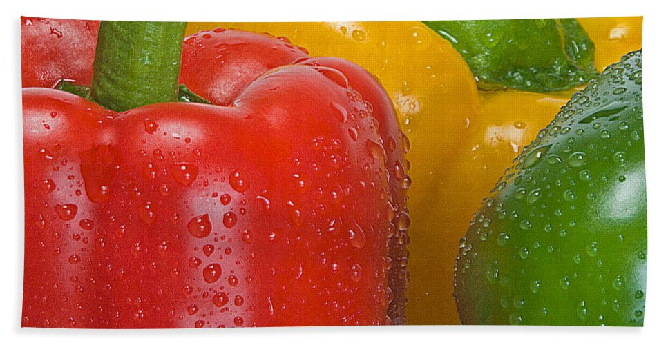 Bell Bath Sheet featuring the photograph Colorful Trio by Susan Candelario