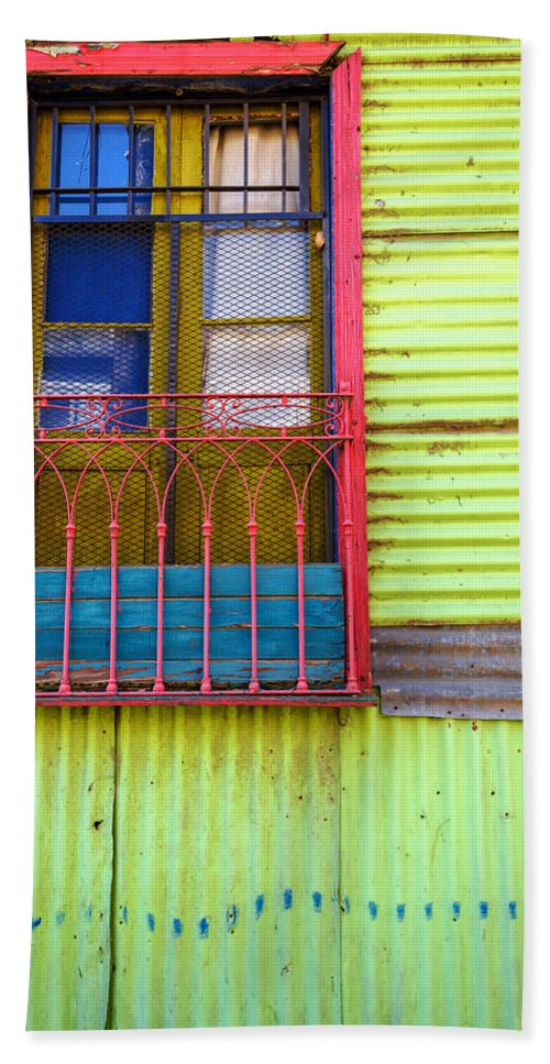 Argentina Hand Towel featuring the photograph Colorful Window by Jess Kraft