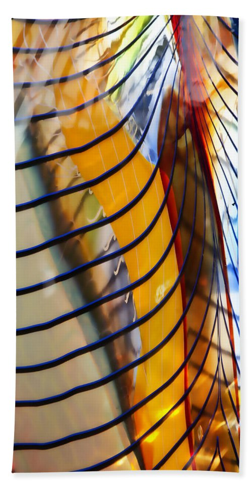 Glass Hand Towel featuring the photograph Colors And Lines by Ricky Barnard