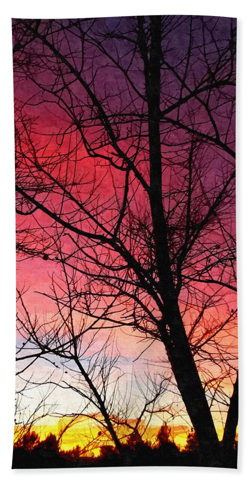 Colors Of Dusk Hand Towel featuring the photograph Colors Of Dusk by Glenn McCarthy Art and Photography