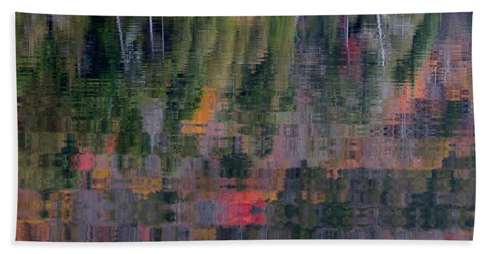 Reflection Hand Towel featuring the photograph Colors Of Fall by Jean Macaluso