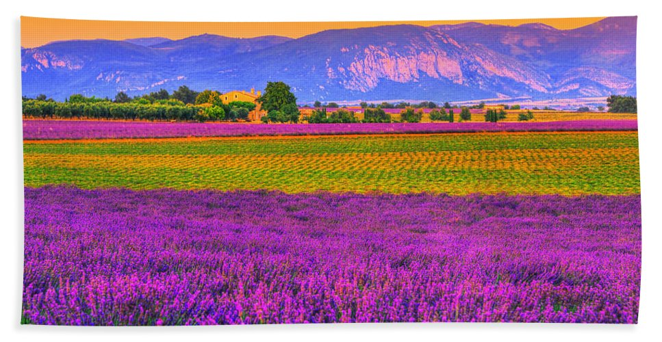 Provence Hand Towel featuring the photograph Colors Of Provence by Midori Chan