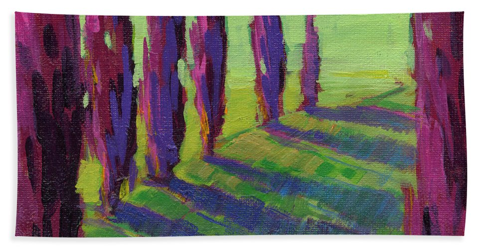 Konnie Kim Hand Towel featuring the painting Colors Of Summer 1 by Konnie Kim