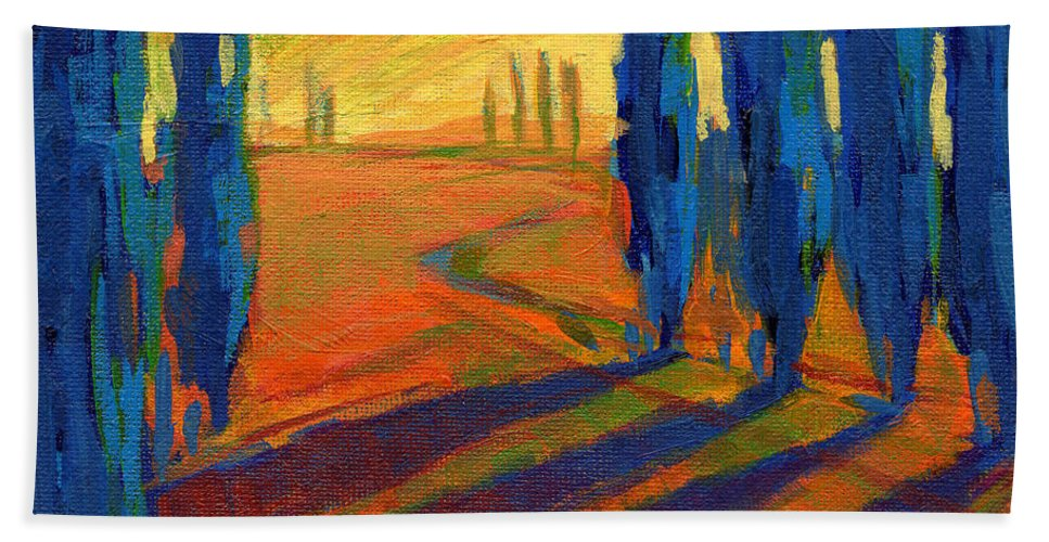 California Hand Towel featuring the painting Colors Of Summer 2 by Konnie Kim
