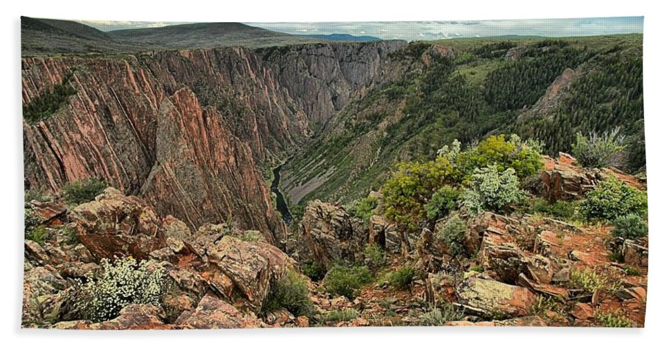 Black Canyon Hand Towel featuring the photograph Colors Of The Black Canyon by Adam Jewell