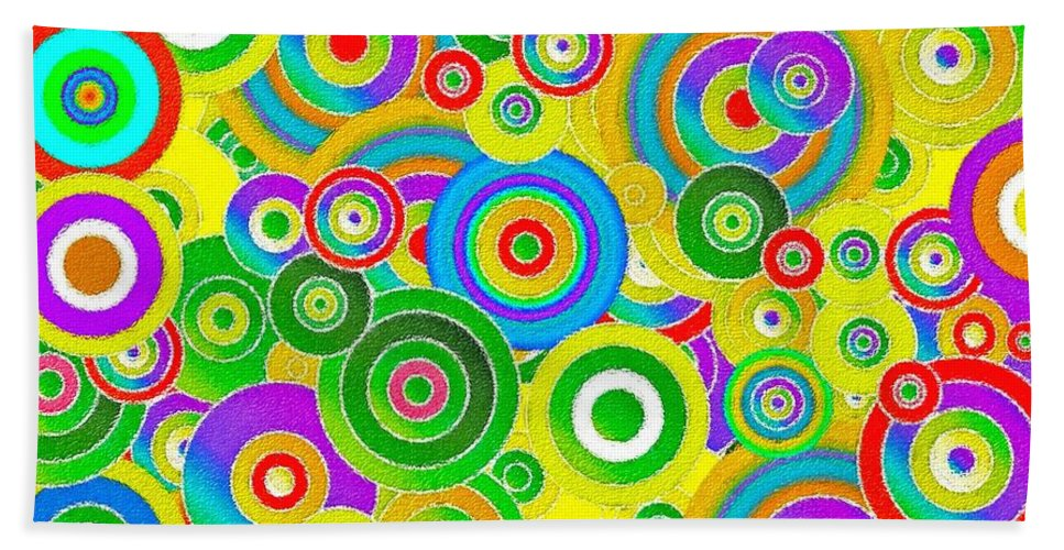 Abstract Fireworks Bath Sheet featuring the painting Colors by Stefano Senise