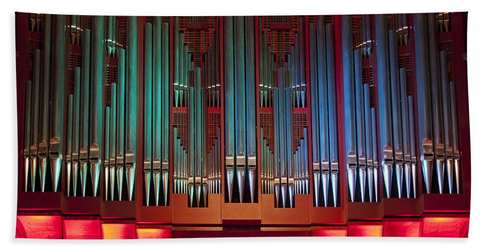 Christchurch Bath Sheet featuring the photograph Colourful Organ by Jenny Setchell