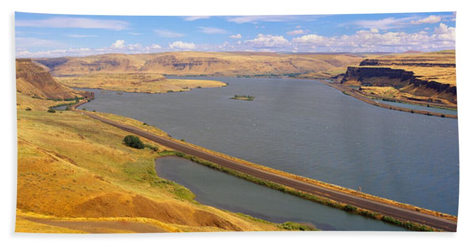 Photography Hand Towel featuring the photograph Columbia River In Oregon, Viewed by Panoramic Images