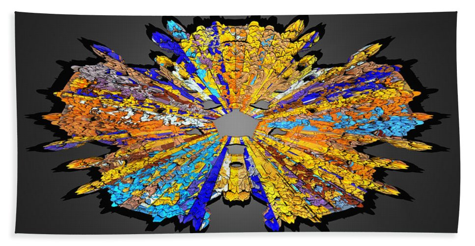 Abstract Bath Sheet featuring the digital art Com Life 12 by Zac AlleyWalker Lowing