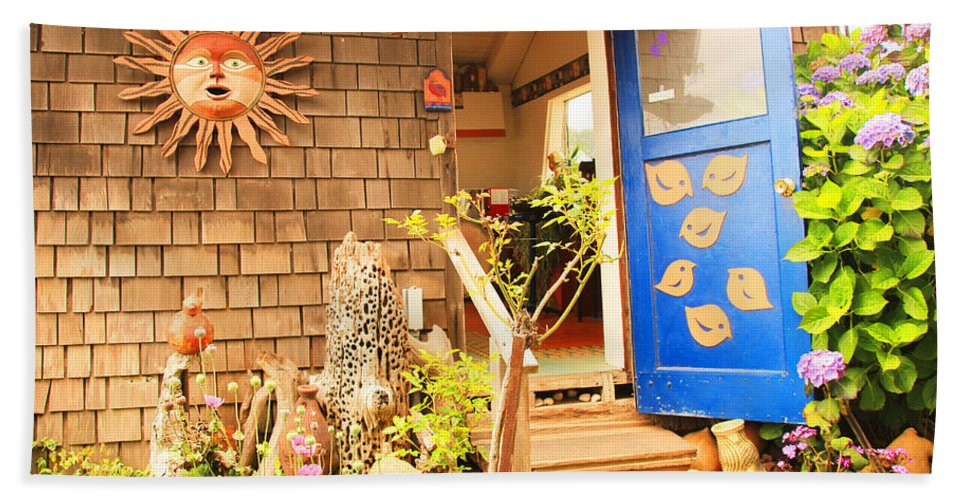 Gallery Hand Towel featuring the photograph Come On In To A Mendocino Art Studio by Kris Hiemstra