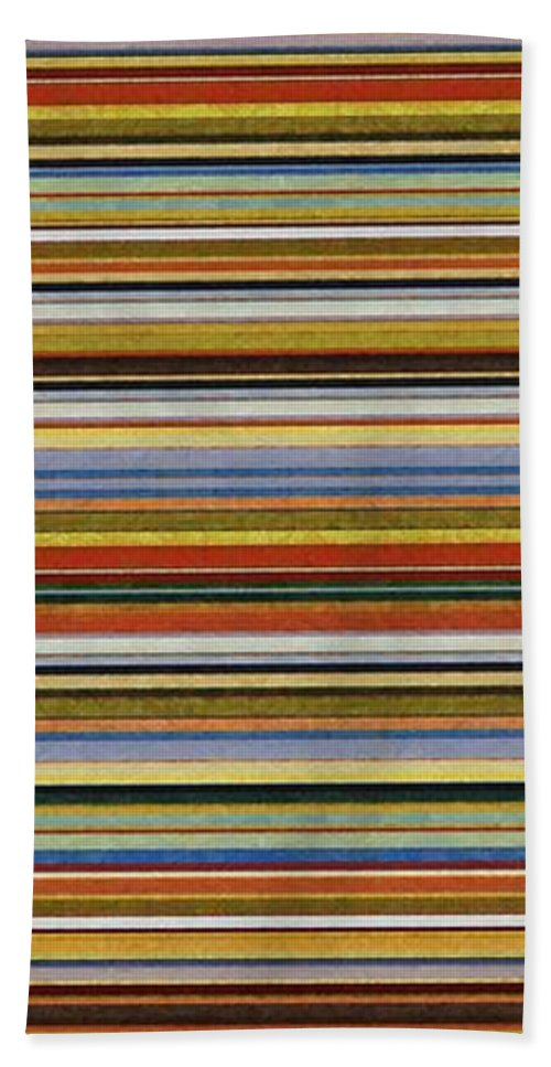 Textured Hand Towel featuring the painting Comfortable Stripes Vll by Michelle Calkins