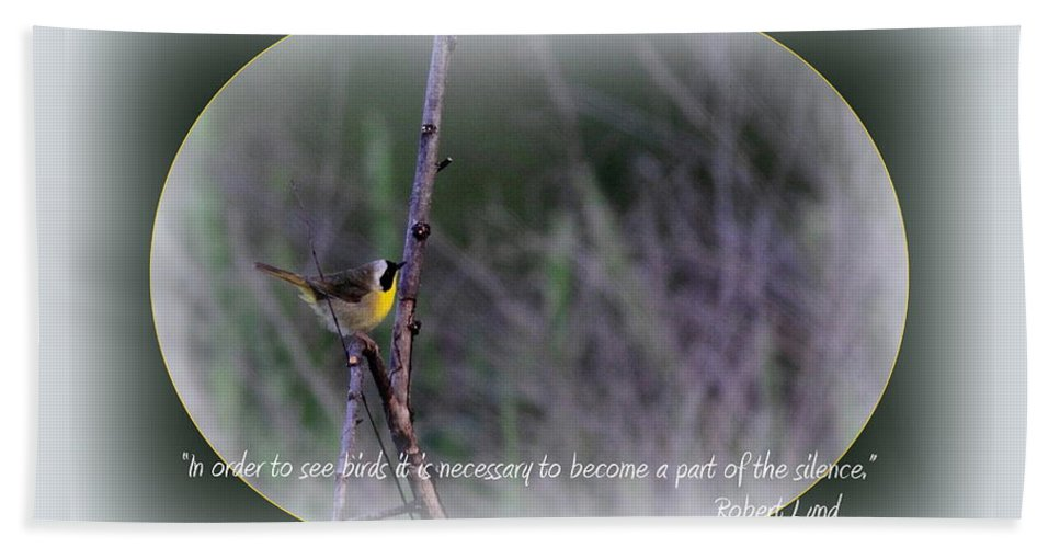 Small Birds Hand Towel featuring the photograph Common Yellowthroat - Bird by Travis Truelove