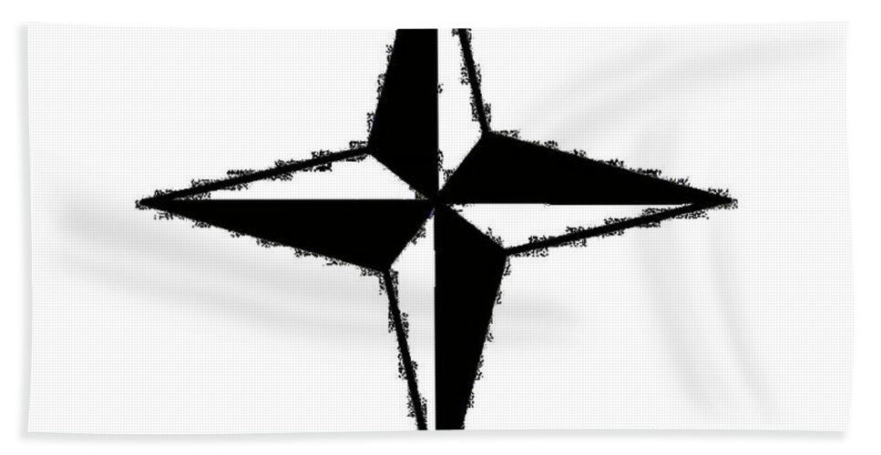 Compass Hand Towel featuring the digital art Compass Star by Frederick Holiday