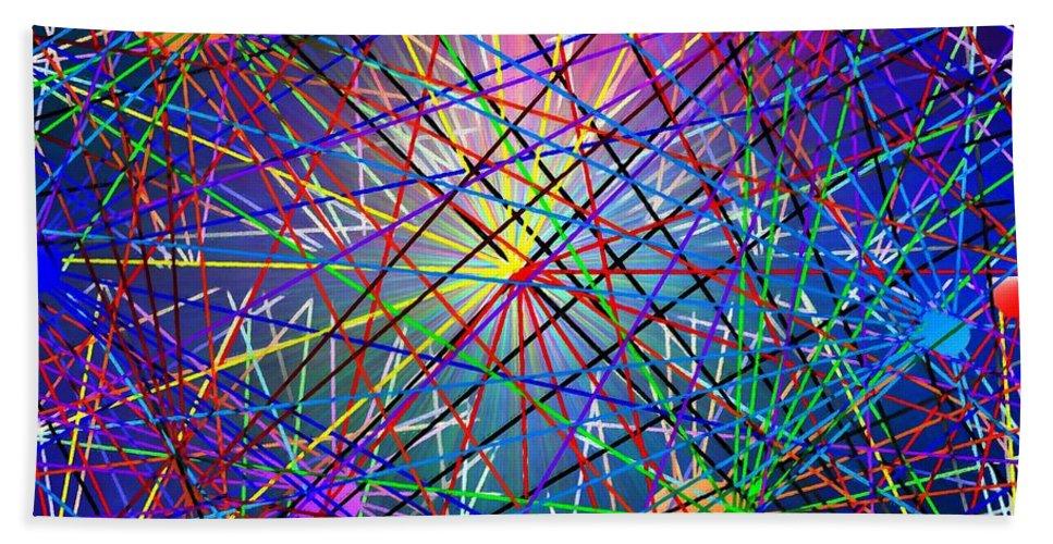 Abstract Bath Sheet featuring the digital art Complications - Pandoras Box by Glenn McCarthy Art and Photography