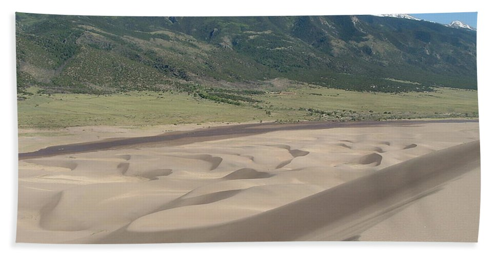 Great Dunes Photographs Canvas Prints Colorado Rocky Mountain Desert Range Landscape Hand Towel featuring the photograph Composition Divide by Joshua Bales